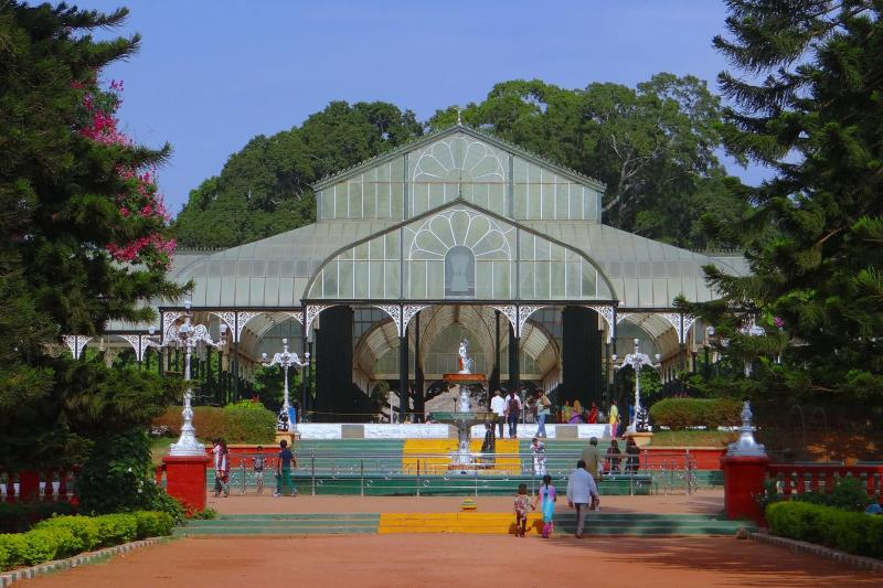 Farola en Lalbagh Botanical Garden, India.