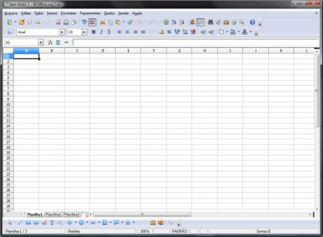 AutoLANDSCAPE - tela do Br Office Excel