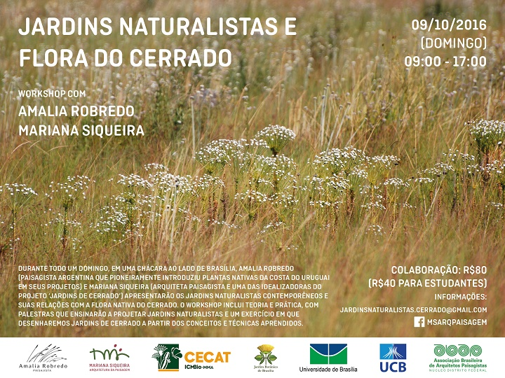 Workshop Jardins Naturalistas e Flora do Cerrado