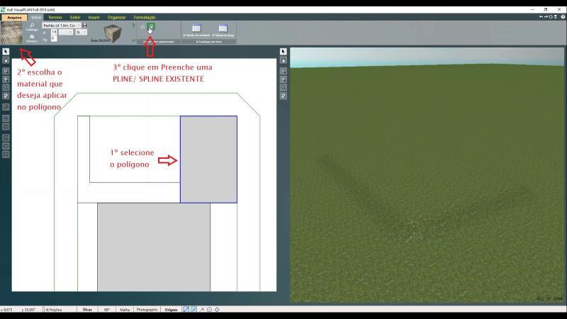 Aplicando materiales en el programa VisualPLAN