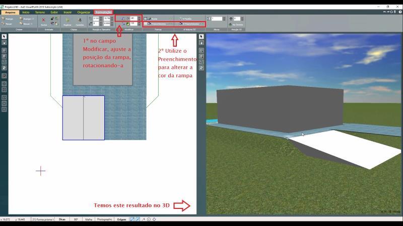 Inserción de rampa con VisualPLAN