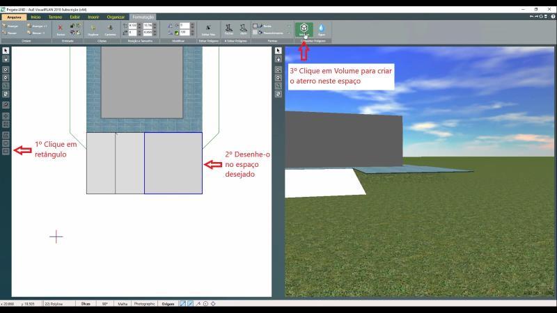 Rellenar la inserción en un vertedero con VisualPLAN