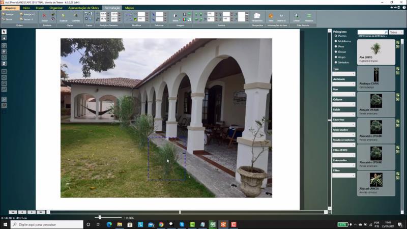 Insertando artículos de paisajismo en PhotoLANDSCAPE