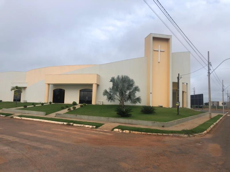 Fachada da Igreja antes da execução do projeto de paisagismo