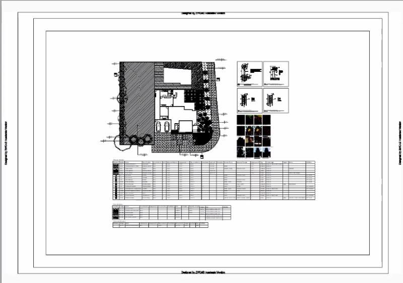 Una vista previa de su tablero de impresión, utilizando el CTB monocroma, en AutoCAD