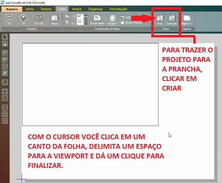 <br>Cree una ventana gráfica para importar el proyecto.
