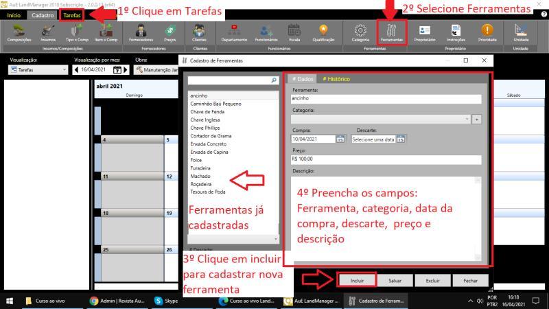 <br>Registrando herramientas en LandMANAGER
