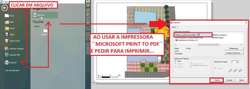 Microsoft imprime en una impresora PDF