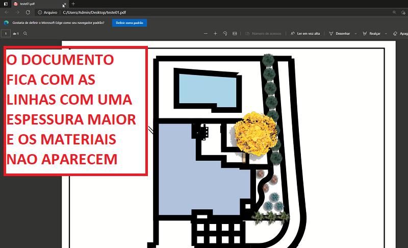 Líneas gruesas y sin material en la impresión de PDF de Microsoft